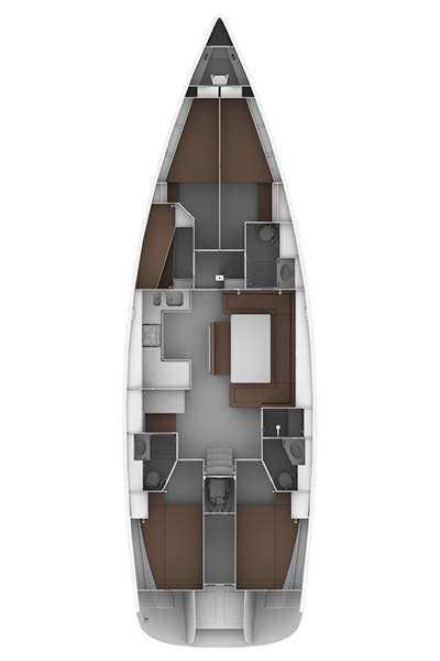 Bavaria Cruiser 50, Siegal