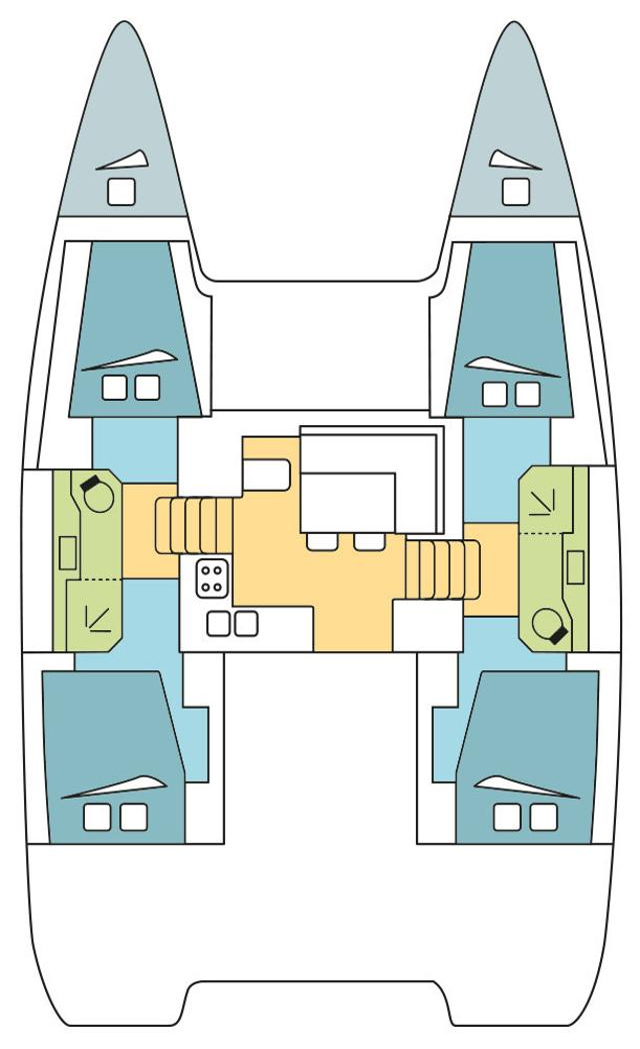 Lagoon 40 - 4 + 2 cab