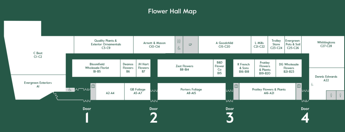 Flower Market At New Covent Garden Market Map