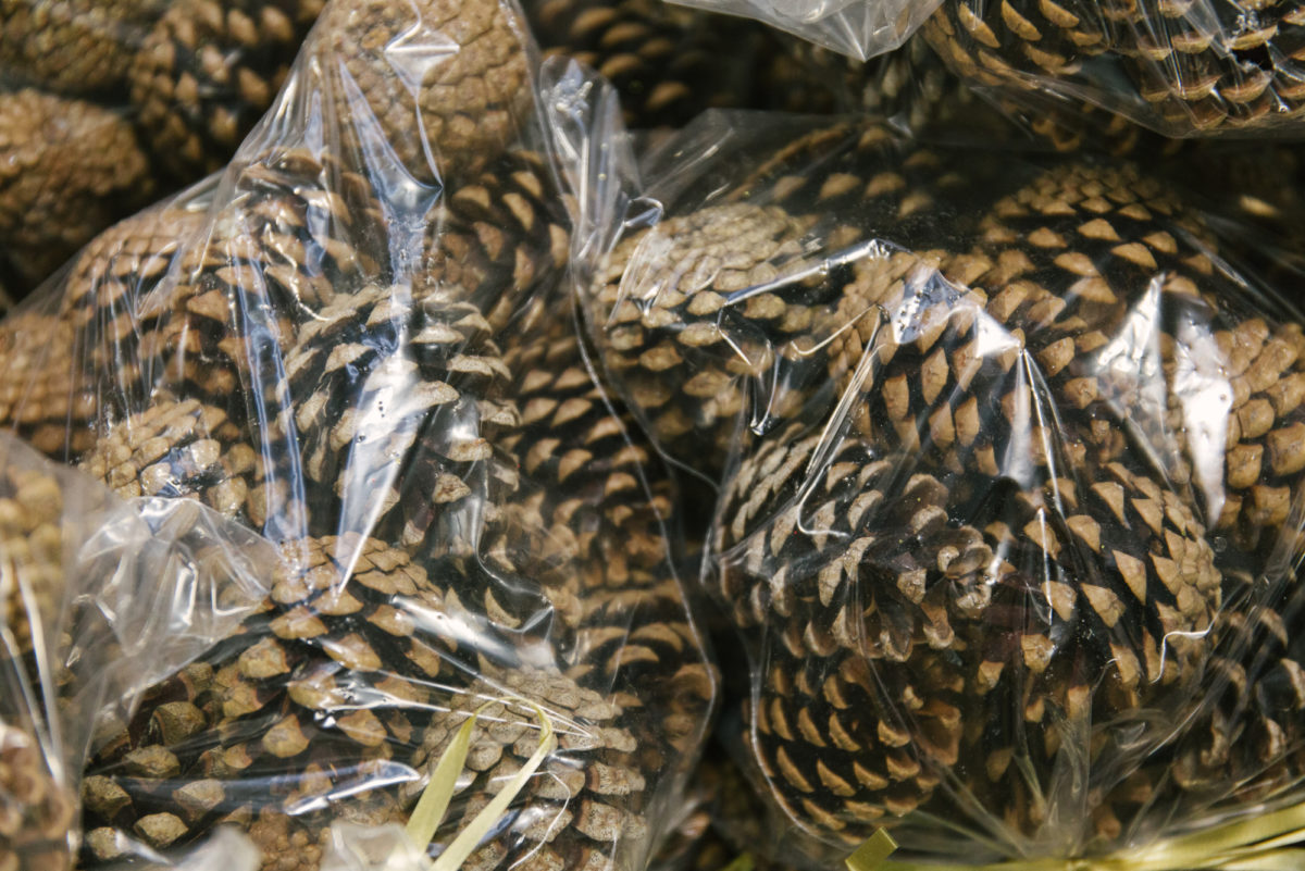 New Covent Garden Flower Market A Florists Guide To Christmas At The Flower Market Rona Wheeldon Flowerona Natural Pine Cones At Zest Flowers November 2017