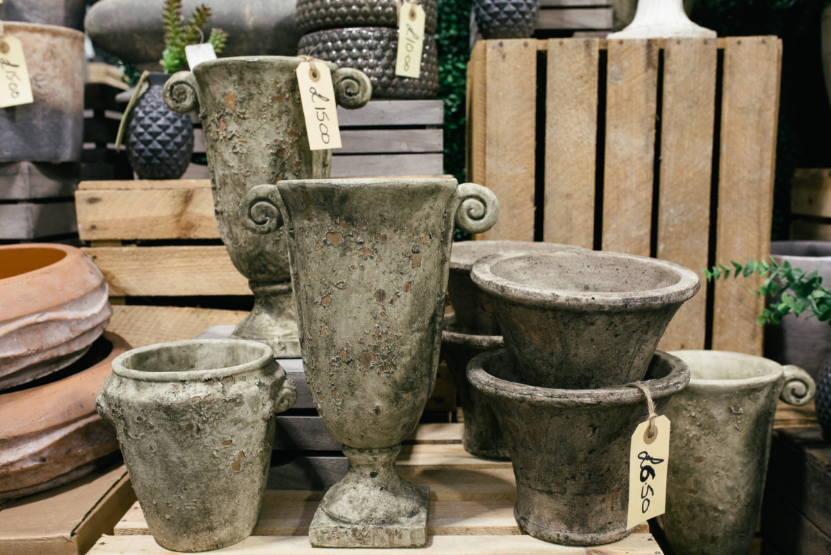 New Covent Garden Flower Market October 2017 Flower Market Report Aged Urns And Pots At The Flower Store Part Of Bloomfield