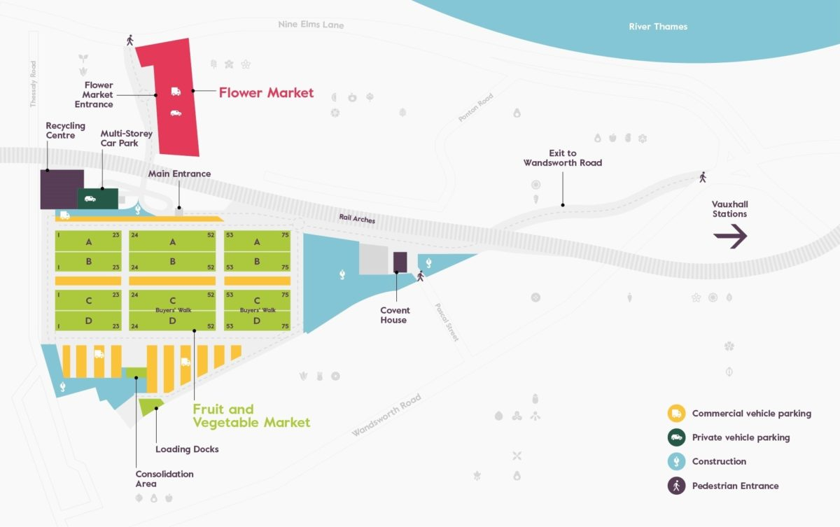 New Covent Garden Market Map