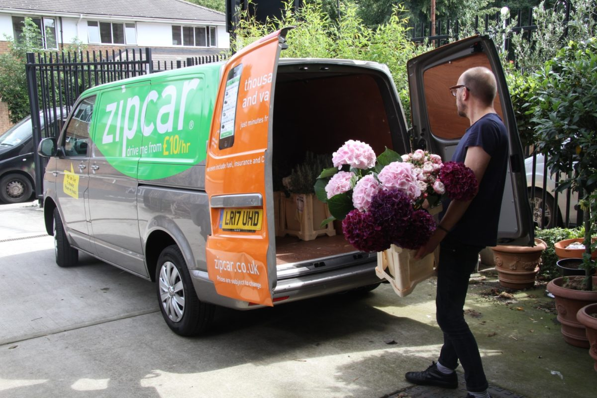 The Urban Flower Firm Loading Zipvan