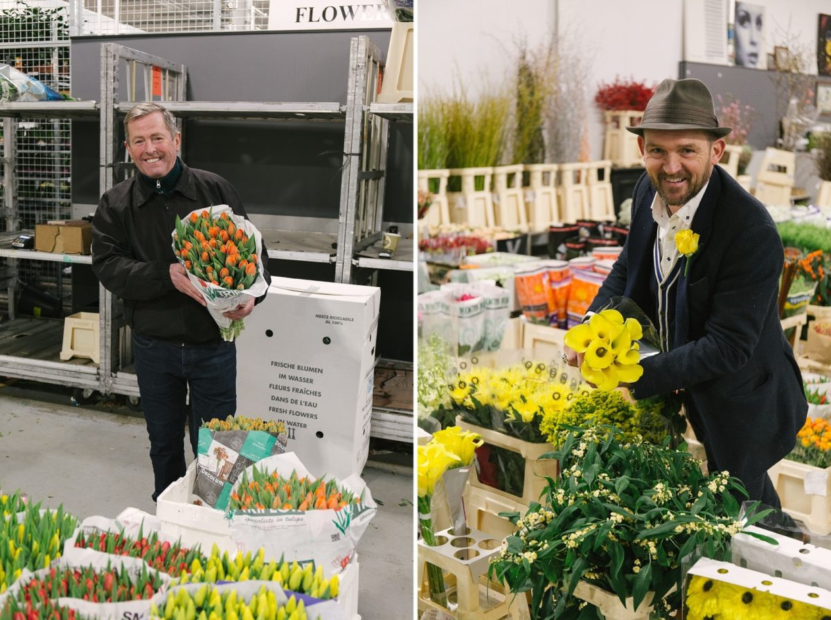 Trevor At Dg Wholesale Flowers Eddie At Dennis Edwards Flowers New Covent Garden Flower Market Rona Wheeldon Flowerona