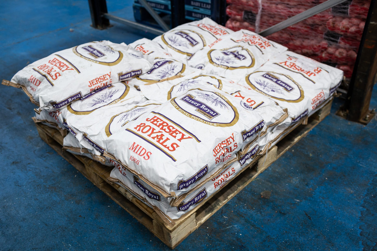 Fruit And Vegetable Market Chefs Guide To Jersey Royals Pallet
