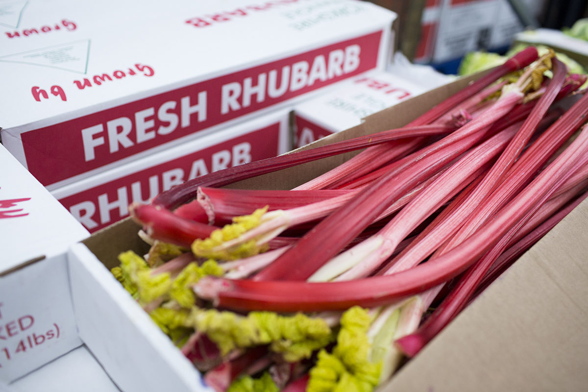 Fruit And Vegetable Market Chefs Guide To Yorkshire Forced Rhubarb January 2018 Boxes At P And I