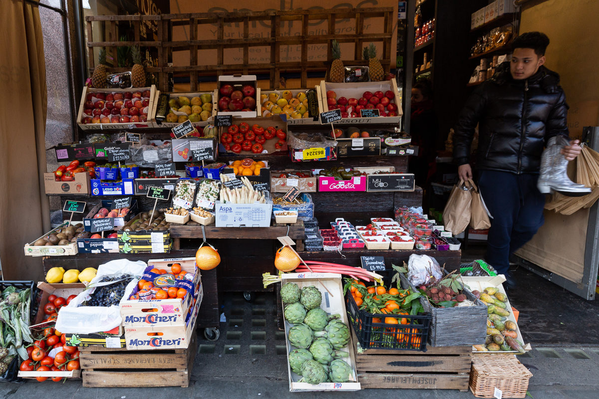 New Covent Garden Market Customer Profile February 2018 Andreas Veg Display Front