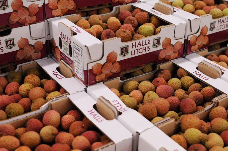 Lychees from Mauritius