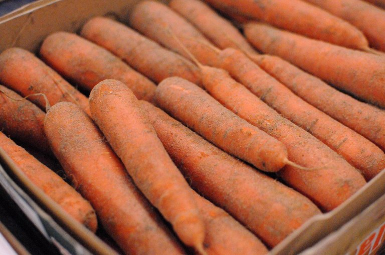 Sand-grown carrots