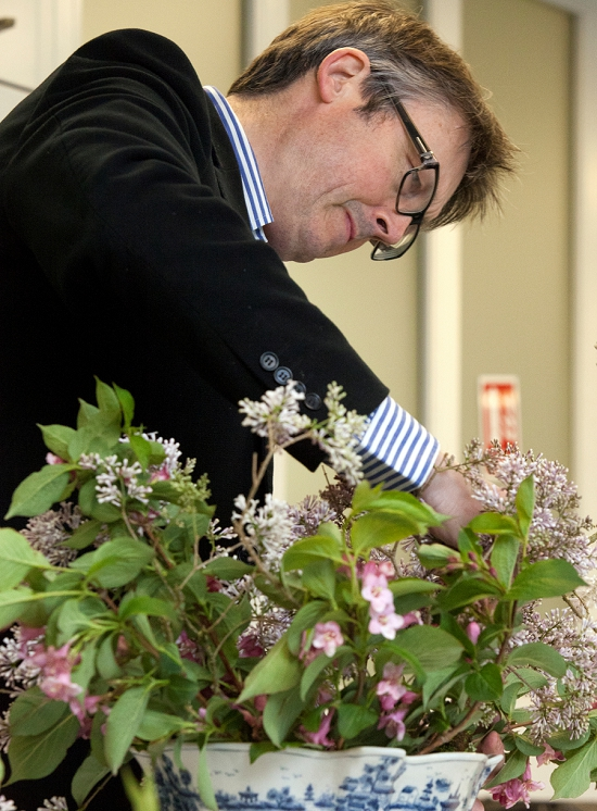 Shane Connolly at work for British Flowers Week