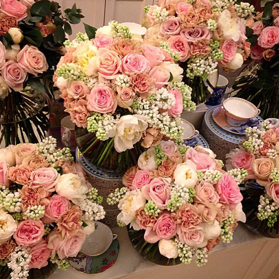 By Appointment Only Design's arrangement using pink roses