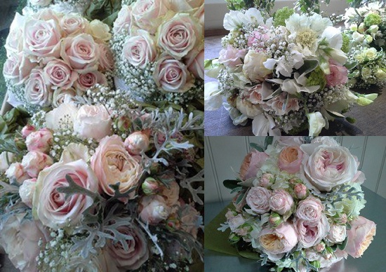 Carrie Macey at The Topiary Tree's blush roses design