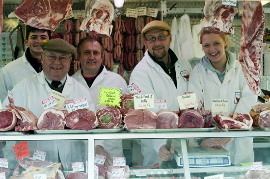 Butcher stall