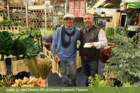 Dennis Edwards Flowers at New Covent Garden Market