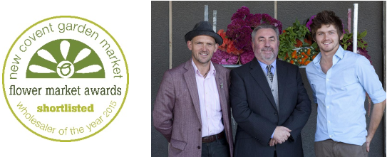 New Covent Garden Market Shortlisted Wholesaler of the Year 2015 - Dennis Edwards Flowers