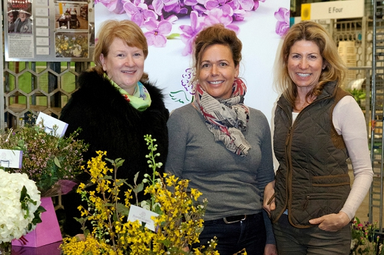 Floral Angels creators at New Covent Garden Flower Market
