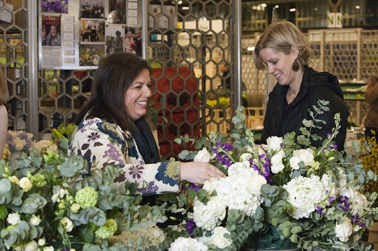 Floral Angels team at New Covent Garden Flower Market