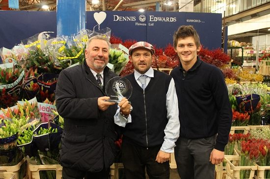 Dennis, Eddie and Sonny at Dennis Edwards Flowers