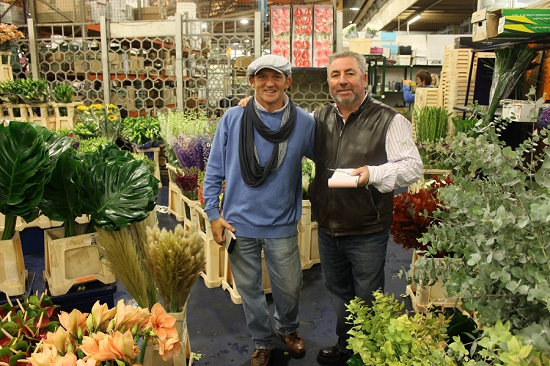 Dennis and Eddie at Dennis Edwards Flowers
