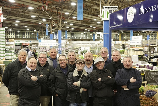 Group of traders at New Covent Garden Flower Market