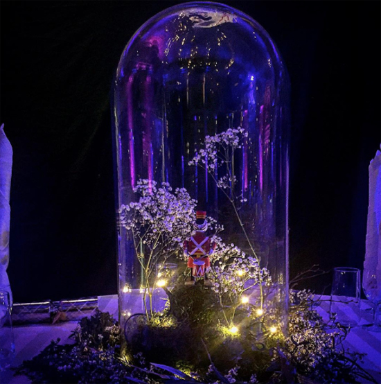 JamJar Flowers cloche arrangement at The V&A Museum of Childhood