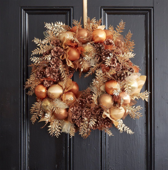 Jane Packer metallic wreath