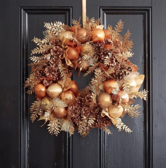 Jane Packer metallic wreath
