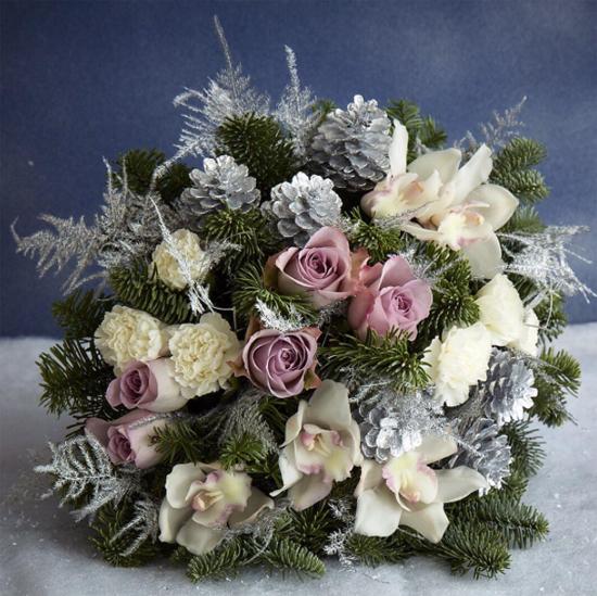 Jane Packer Flowers metallic arrangement