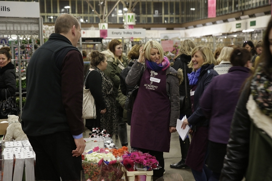 Jonathan Hart and competitors at new Covent Garden Flower Market colelge day 2015