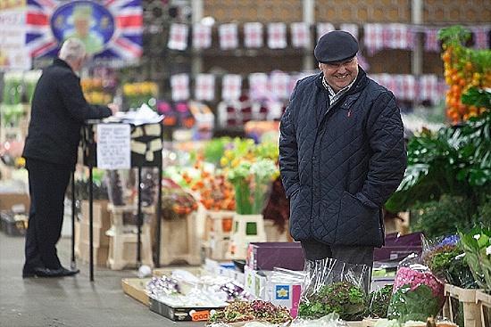 L Mills at New Covent Garden Flower Market