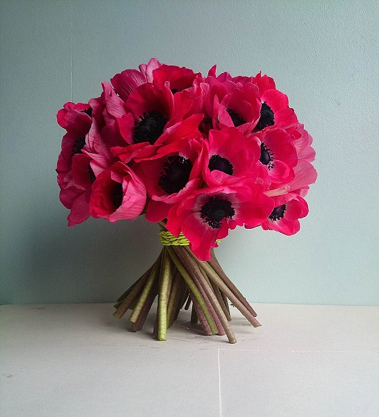 Red anemone design by Leyla Hussein of Bloom of the Block