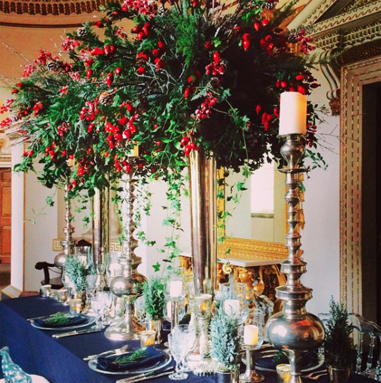 Mary Jane Vaughan nostalgic red and green table decoration