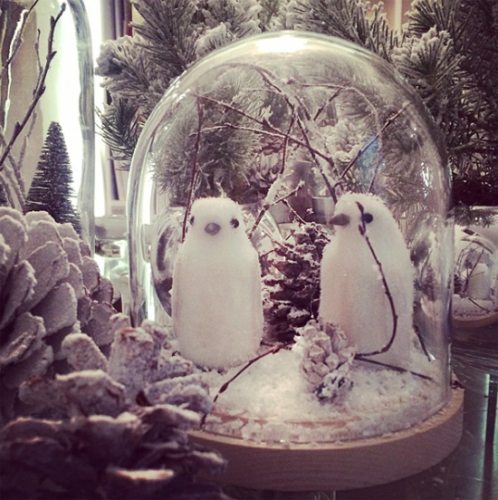 Mary Jane Vaughan's cloche snowscene