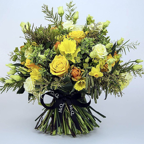 McQueens design using narcissi and dsaffodils
