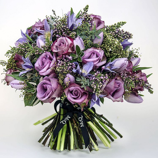 McQueens' bouquet using Lilac