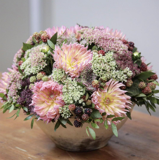McQueens' arrangement using Sedum
