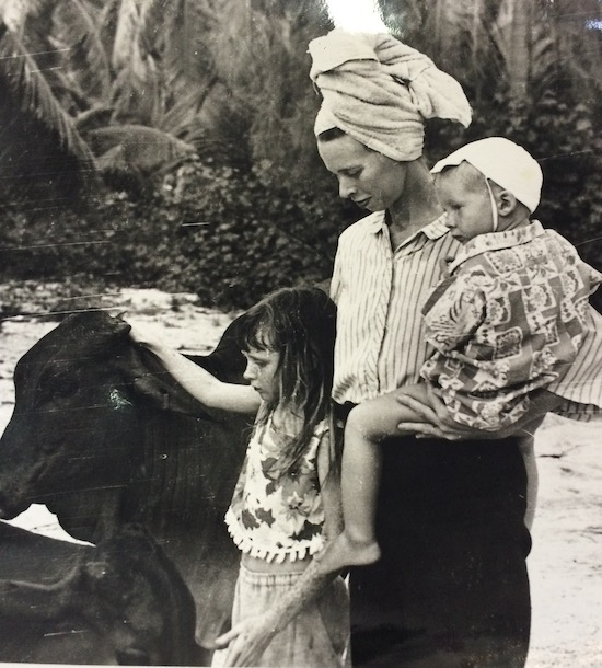 Ming Veevers Carter as a child in the seychelles. Designer of New Covent Garden Flower Market's debut chelsea exhibit entitled 'Behind every great florist'