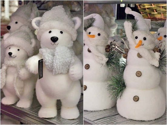 Polar Bears and Snowmen at New Covent Garden Flower Market - Christmas 2013