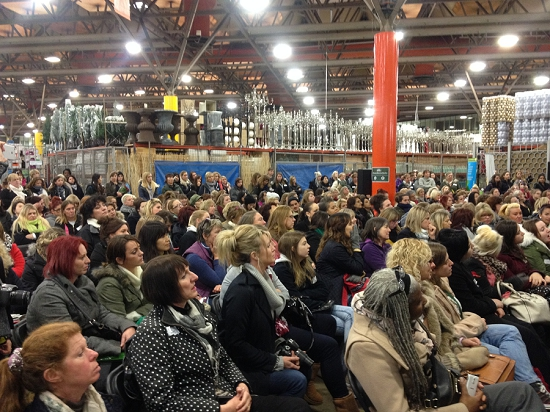 Crowd at College Day at New Covent Garden Flower Market 2014