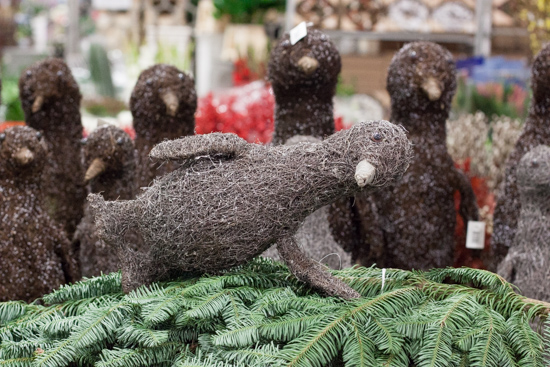 Brown twig penguins at New Covent Garden Flower Market - Christmas 2015