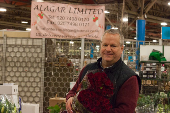 Andy at Alagar at New Covent Garden Flower Market - February 2015