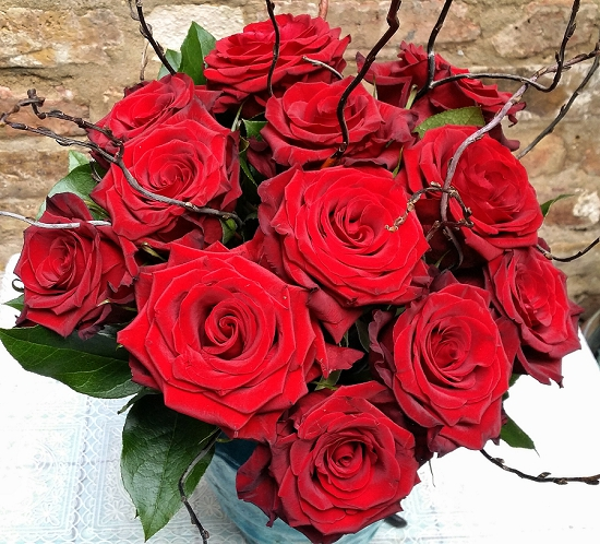 Yeomans Flowers Design using red roses