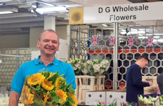 David at D G Wholesale Flowers at New Covent Garden Flower Market