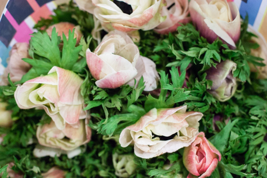 Blush anemones at New Covent Garden Flower Market - March 2015