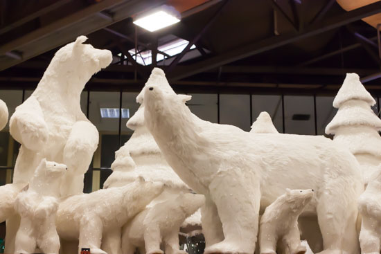 Polar bears at New Covent Garden Flower Market - Christmas Special - December 2014