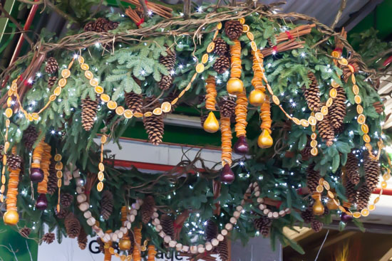 GB Foliage stand at New Covent Garden Flower Market - Christmas Special - December 2014