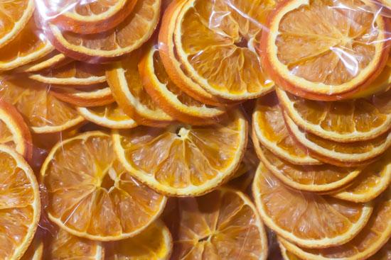 Orange slices at New Covent Garden Flower Market - Christmas Special - December 2014