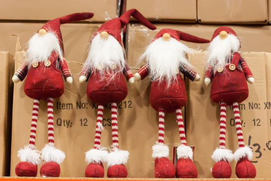 Santa Christmas tree decorations at New Covent Garden Flower Market - Christmas Special - December 2014