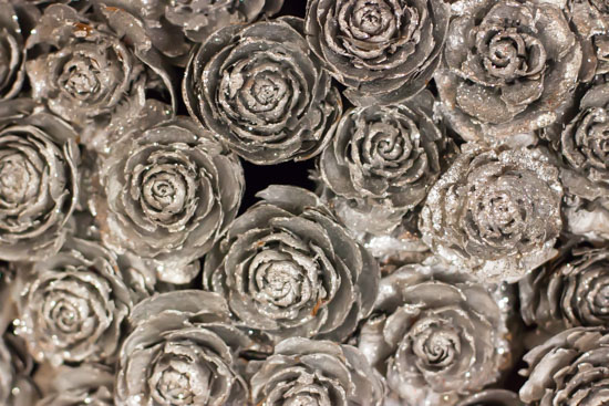 Silver roses at New Covent Garden Flower Market - Christmas Special - December 2014