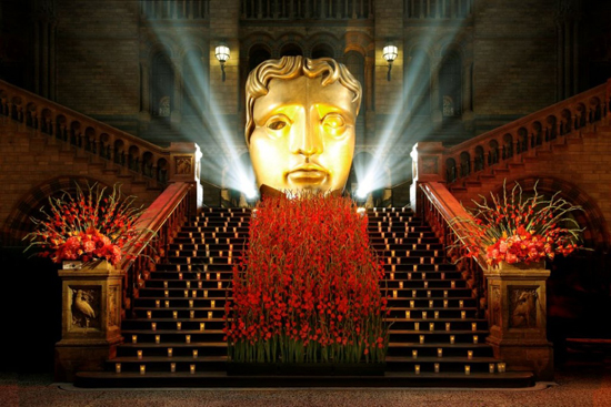 Rebel Rebel Gladioli arrangment for BAFTA After Party